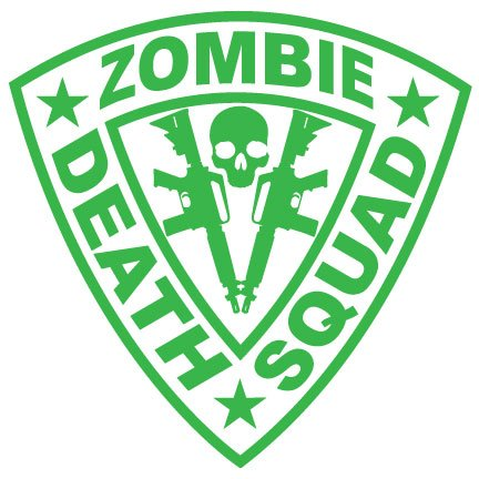 Zombie Death Squad Decal Twin AR15 – Green