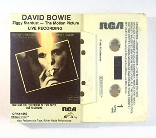 (1983 David Bowie Ziggy Stardust The Motion Picture Live Recording : Canadian RCA Cassette CPK2-4862 : Comes with a CD Transfer )