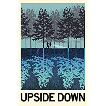 The Upside Down TV Show Fantasy Travel Poster 12x18