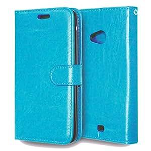 MOONCASE Carcasa para Nokia Lumia 625 Funda Tapa Cartera Case Carcasa Cuero Cover Azul