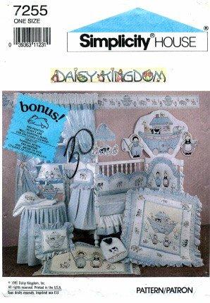simplicity 7255 sewing pattern daisy kingdom baby nursery room decor