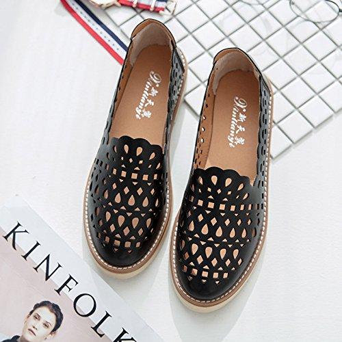 XY&GKDonna Sandali Baotou All-Match cava studente coreano scarpe scarpe traspiranti Testa, 38, bianco,con il migliore servizio 39black