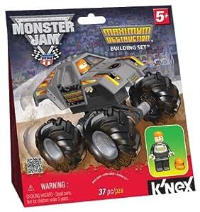 Amazon.com: K'NEX Monster Jam Maximum Destruction Building ...