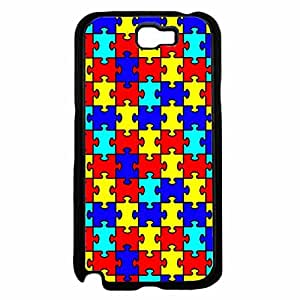 Autism Puzzle Pieces TPU RUBBER SILICONE Phone Case Back Cover Samsung Galaxy Note II 2 N7100
