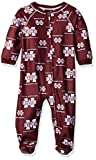 NCAA Mississippi State Bulldogs Infant Boys Sleepwear All Over Print Zip Up Coveralls, 18 Months, Classic Maroon
