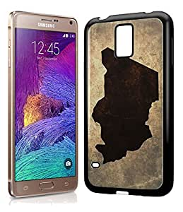 Chad National Vintage Country Landscape Atlas Map Phone Case Cover Designs for Samsung Galaxy Note 4