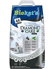 Biokat's Diamond Care Classic utan doft – fint kattsand med aktivt kol och aloe vera – 1 påse (1 x 8 L)