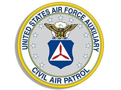 GHaynes Distributing ROUND Civil Air Patrol AUXILIARY Sticker Decal (air force usaf military) 4 x 4 inch ()