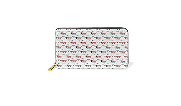 d90d3af1e5be Funny Dachshund Dog Like Bone Genuine Leather Long Clutch Women ...