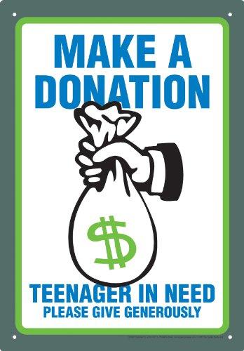 Aquarius Make a Donation Tin Sign