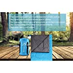 Vumos Sleeping Bag Lightweight Adult Sleeping Bag Great For Camping Hiking And Outdoor Use Includes Compression Sack For Added Portability Can Be Made Into A Double
