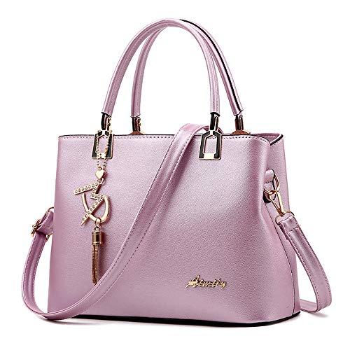 Borsa A Solido In Shopping nero Lanskrlsp Pelle Messenger Bag Viola Colori borsa Tracolla borsa Crossbody Borsa Moda Donna RqE48