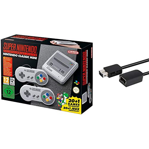 Nintendo Super Entertainment System SNES Classic Edition with 6-ft. Extension Cable (Super Nintendo Flashback)