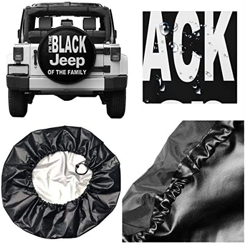 SUV RV Trailer Truck and Many Vehicle NHSJ Weatherproof Tire Protectors Spare Tire Cover Universal Fit for Jeep