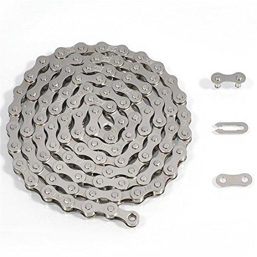 ZHIQIU FSC F410 1-Speed Bicycle Chain (1/2 x 1/8-Inch, 104L) (CP-Silver)