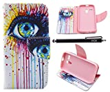 Moto G Case (1st Gen), iYCK Premium PU Leather Flip Folio Carrying Magnetic Closure Protective Shell Wallet Case Cover for Moto G (1st Gen) with Kickstand Stand - Colorful Eye