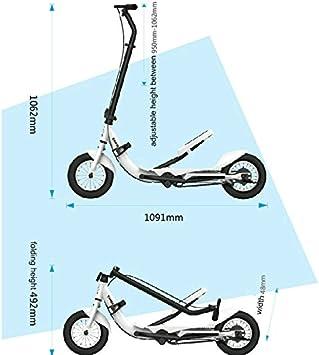 Amazon.com: tarcle Scooter de pedal, 10 inch Air Scooter de ...