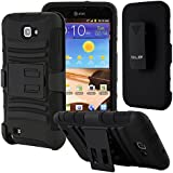 Galaxy Note Case, CellJoy [Rugged Armor] **Shockproof** Belt Clip Kick Stand Holster Case for Samsung Galaxy Note 1st Generation I717, N7000, I9220, T897