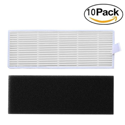 10 Pack Replacement High Efficiency Filter & Sponge Filter Kit for ILIFE A6 A4 A4s Robot Vacuum Cleaner - Aunifun