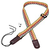 Mugig Strap New Adjustable Cotton Strap with Leather Ends for Ukulele
