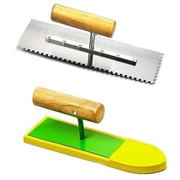 Cuchillo de barro aserrado cuchillo gris esponja Trowel flotador, herramientas de mano de estuco: Amazon.es: Bricolaje y herramientas