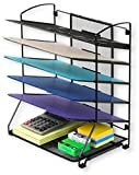 SimpleHouseware 6 Trays Desktop Document Letter Tray Organizer, Black