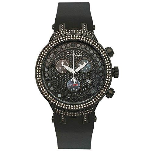 Joe Rodeo JJM75 Master Man Diamond Watch, Black Dial with Black Band