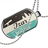 Dogtag Star Constellation Name Boötes - Izar Dog tags necklace - Neonblond