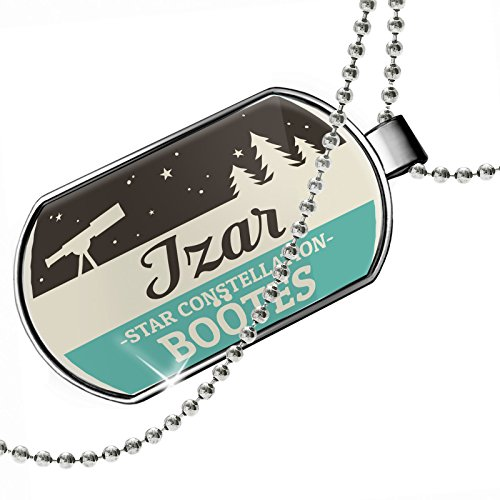 Dogtag Star Constellation Name Boötes - Izar Dog tags necklace - Neonblond by NEONBLOND