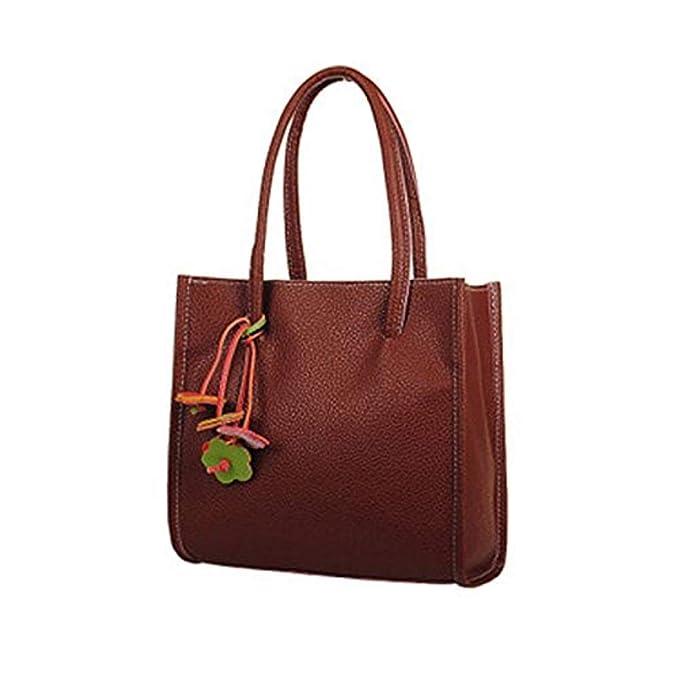 Amazon.com: DDgrin Bolso de hombro para colgar, color marrón ...