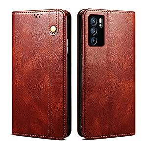 DOB® Shock Proof Flip Case Back Cover for Oppo Reno6 5G / Reno 6 5G Flexible Pouch | Faux Leather Finish | Magnetic…