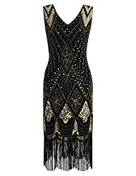 Women's 1920s Cocktail Sequin Flapper Dress