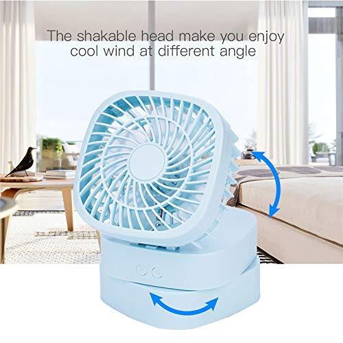 DeemoShop Mute Foldable Personal Fan Portable Desktop Mini Fan Electric Hand Bar Fan USB Rechargeable Rotatable Cooling Fans for Laptop