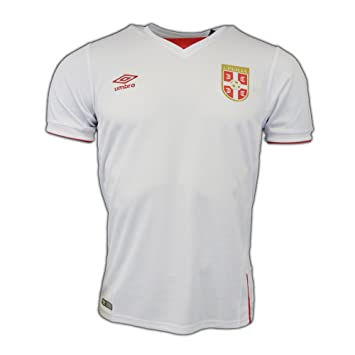 new concept 127f2 12a3c 2016-2017 Serbia Away Umbro Football Shirt, Jerseys - Amazon ...