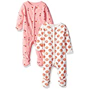 Rosie Pope Baby Girls' 2 Pack Coveralls, Swimmers/Seashells, 0-3 Months