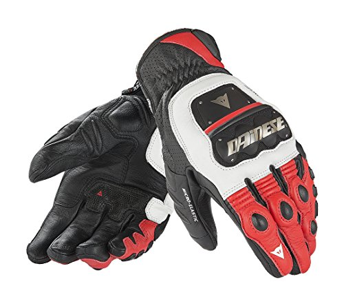 DAINESE 4-Stroke Evo Motorcycle Gloves - White/Red/Black Large