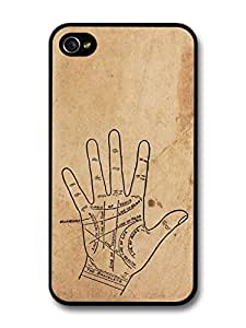 Palmistry Gypsy Hipster Retro Stylish Design on Rustic Style case for iPhone 4 4S