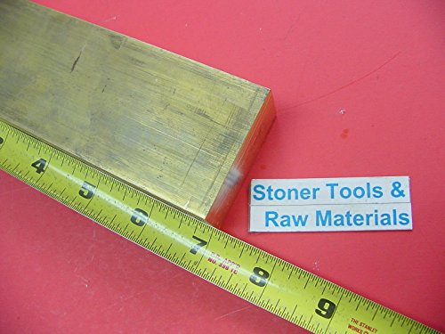 1'' x 2'' C360 BRASS FLAT BAR 7'' long Solid 1.00'' Plate Mill Stock H02 New by Stoner Metals