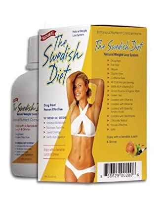 The Swedish Diet Large 14 oz bottle with DOUBLE Dosage 14 Servings NATURAL WEIGHT LOSS SYSTEM Boosts Metabolism, Decreases the Appetite, Lowers Cravings and Aids Digestion for SUSTAINABLE WEIGHT LOSS