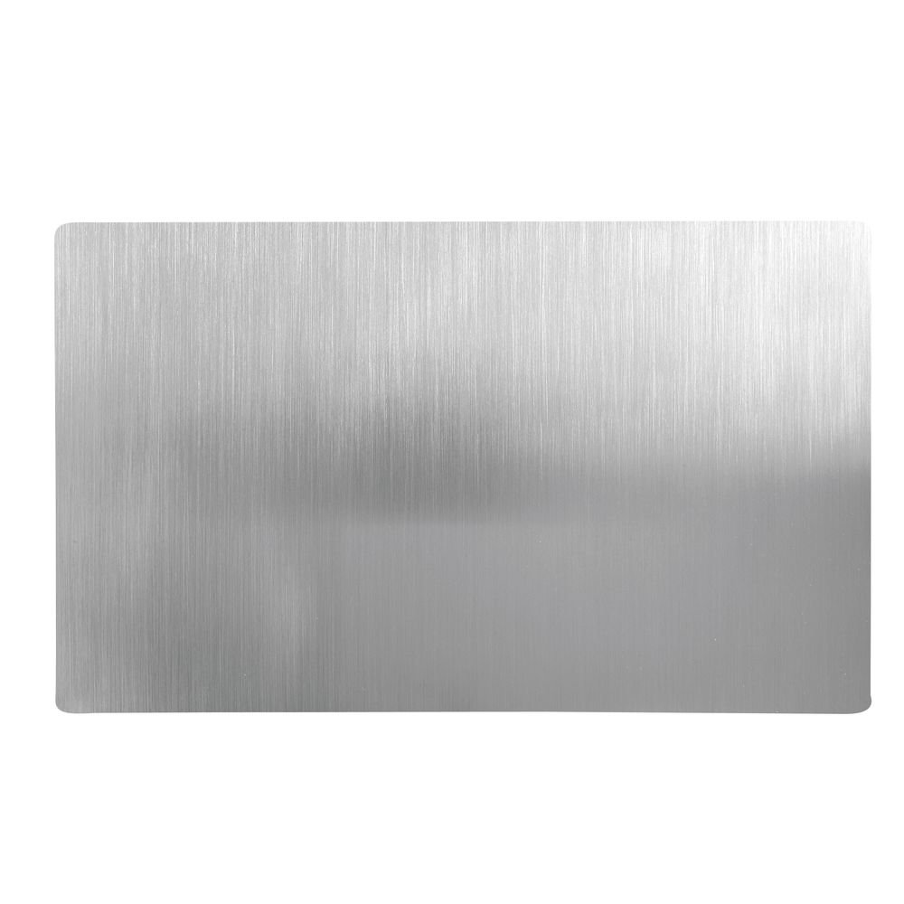 HUBERT Food Display Tile Steam Table Well Covers Full Size Satin Stainless Steel - 21'' L x 12 3/4 W x 7/10 H