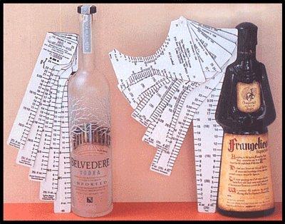 Shot Glance Liquor Inventory Rulers