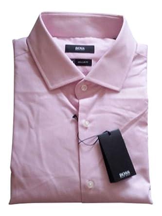 9f12fe53 Amazon.com: Hugo Boss Pink/White Check Regular Fit Long Sleeve Dress ...
