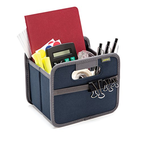 meori Foldable, Marine Blue, Collapsible Box to Organize, Store and Carry Anything and Everything Mini