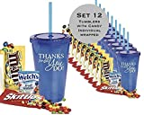 12 Piece Thank You Tumblers with Candy Fill/Teacher Thank You/Candy Thank You/Nurse Thanks for all You Do /Employee Appreciation/Holiday Thank You Candy Tumbler/