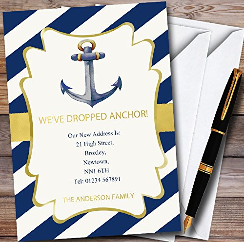 Anchor Nautical New Home Change Of Address Moving House Cards