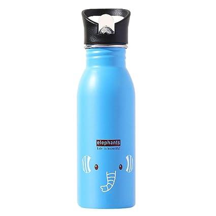 Botella de Agua con Aislamiento al vacío de Acero Inoxidable - Segura para Beber - Diseño de Doble Pared - Botella de Agua Personalizada Linda Botella ...