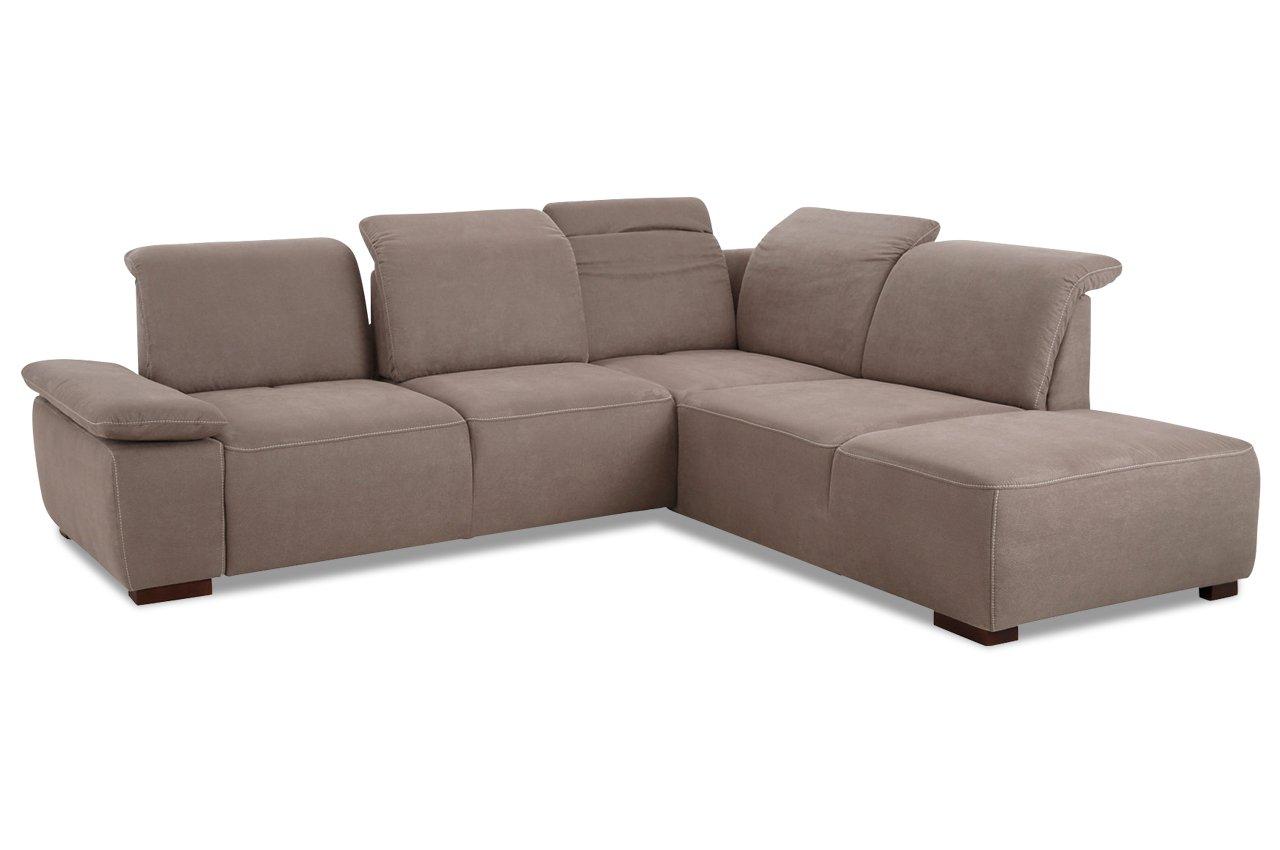 sofa sit more megaecke tobago mit sitzverstellung gepr gter luxus microfaser grau g nstig. Black Bedroom Furniture Sets. Home Design Ideas
