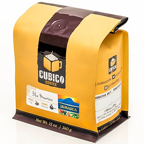 Jamaica Blue Mountain Coffee - Whole Bean Coffee - Freshly Roasted Coffee - Cubico Coffee - 12 Ounce (Single Origen Jamaican Blue Mountain Coffee)