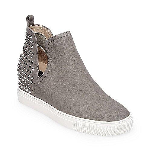 STEVEN by Steve Madden Women's Coin Sneaker, Grey Nubuck, 10 M US