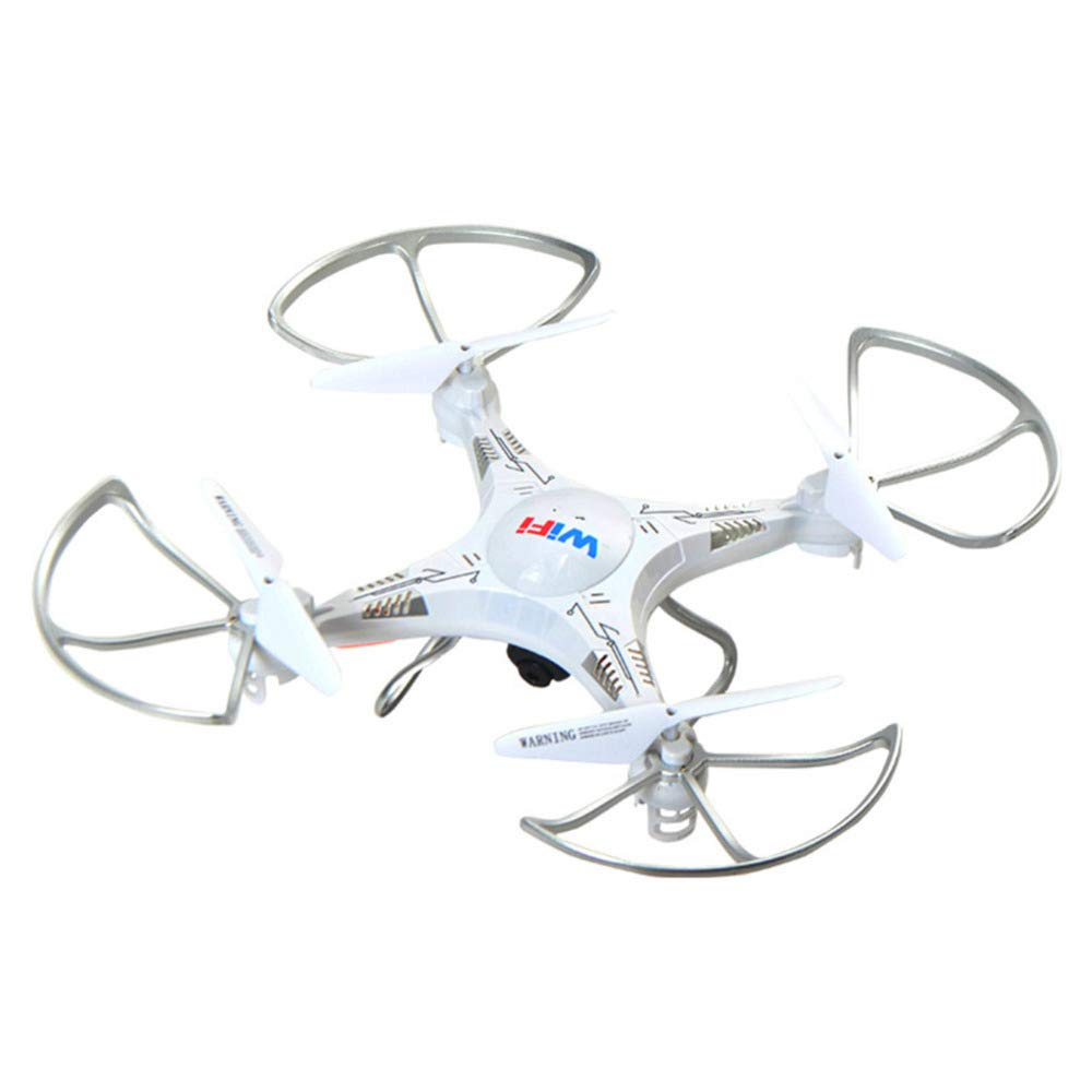 YFCTASQX Remote Control Aircraft Wifi RealTime Aerial Drone Fixed Height FourAxis Aircraft Charging Helicopter Toy,White,WRJ